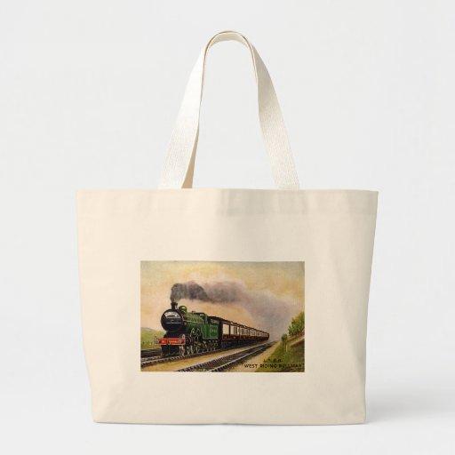 Bolso del tren del vapor bolsa de mano