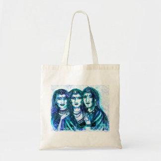 Bolso del trío de la luna azul bolsa tela barata