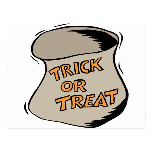 Bolso del truco o de la invitación de Halloween Postal