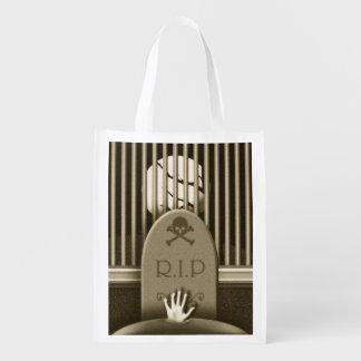 Bolso del truco o de la invitación del cementerio bolsas para la compra
