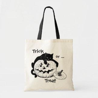 Bolso del truco o de la invitación del gato negro bolsas