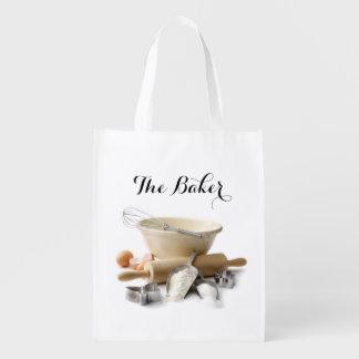 Bolso del ultramarinos reutilizable del panadero bolsas reutilizables