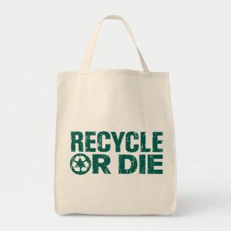 Bolso del ultramarinos verde o de compras