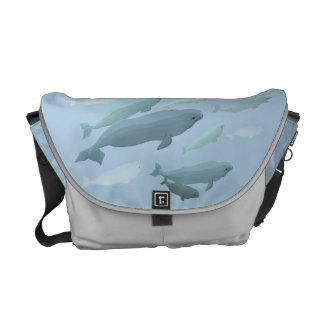 Bolso del viaje de la ballena de la beluga de la bolsas de mensajería