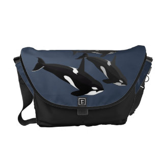 Bolso del viaje de la orca de la bolsa de bolsa de mensajería