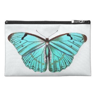 Bolso del viaje de la turquesa de la mariposa o
