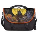 Bolso del viajero de Halloween con la luna, fantas Bolsa De Ordenador