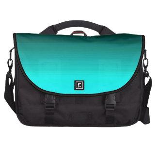Bolso del viajero de las estriaciones de la verde bolsas para ordenador