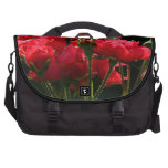 Bolso del viajero de los rosas rojos bolsa para ordenador