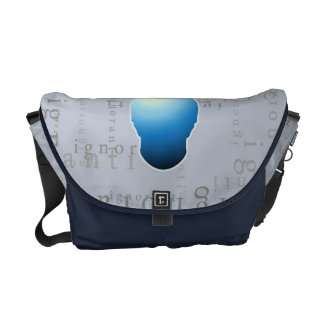 bolso del viajero del ignoranti - claro de luna bolsa de mensajeria