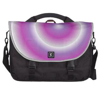 """Bolso del viajero del """"rosa y de la púrpura"""" bolsa para ordenador"""
