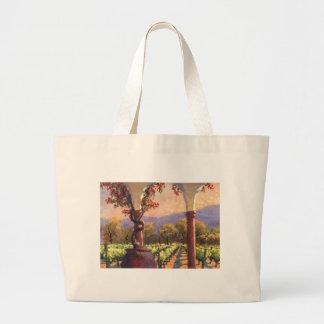 Bolso del viñedo del vino bolsa de tela grande