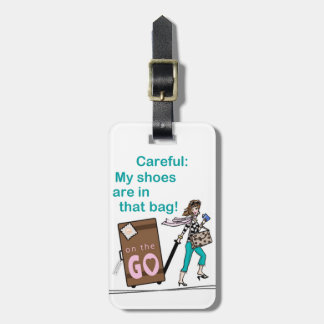 Bolso del zapato etiqueta para maleta