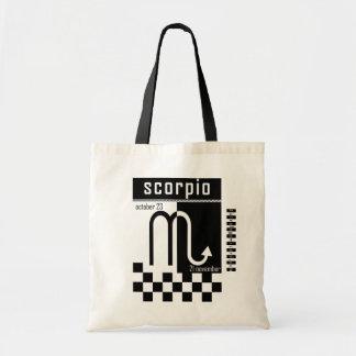 Bolso del zodiaco del Dos-Tono del escorpión Bolsa Lienzo