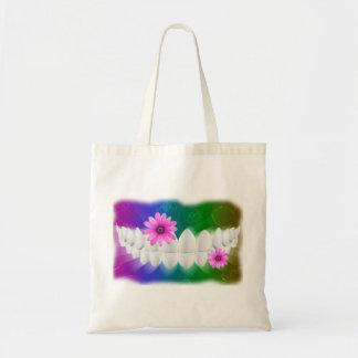 Bolso dental del diseño del arte de la sonrisa de bolsa tela barata