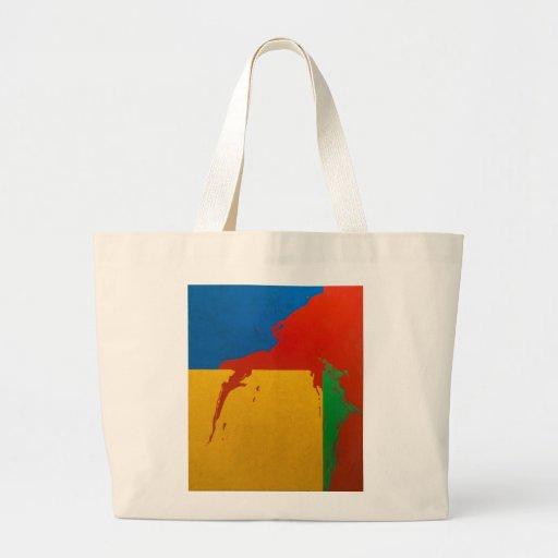 """Bolso: """"Derramamiento del color """" Bolsa De Tela Grande"""