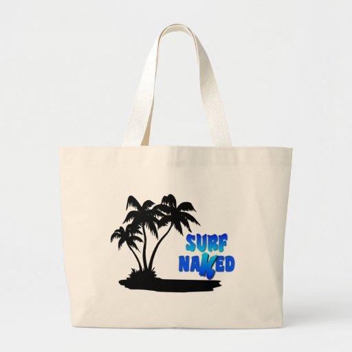 Bolso desnudo de la playa de la resaca bolsa