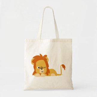 Bolso despierto lindo del león del dibujo animado bolsa tela barata