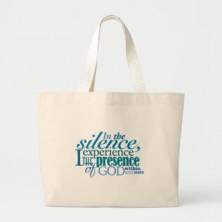 Bolso DIARIO de la lona del silencio de WORD® Bolsa Lienzo