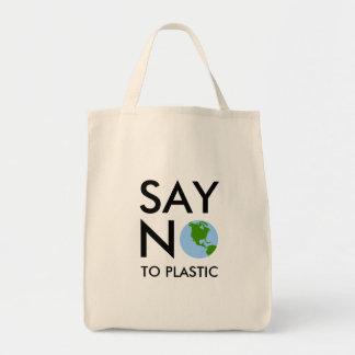 Bolso: Diga NO al plástico - tierra del planeta Bolsas Lienzo
