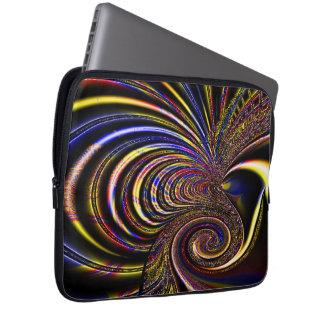 Bolso diseñado espiral de la electrónica del fract fundas computadoras