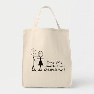 Bolso divertido del cloroformo bolsa tela para la compra