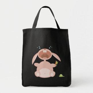 Bolso divertido del conejito del dibujo animado bolsa tela para la compra
