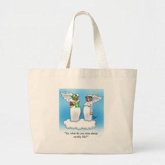 ¡Bolso divertido del dibujo animado del ángel! Bolsa Tela Grande
