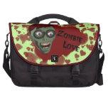 Bolso divertido del viajero del amor del zombi bolsas de ordenador