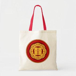 Bolso doble oriental del regalo de boda de la bolsa tela barata