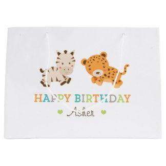 Bolso dulce de encargo del regalo del safari bolsa de regalo grande