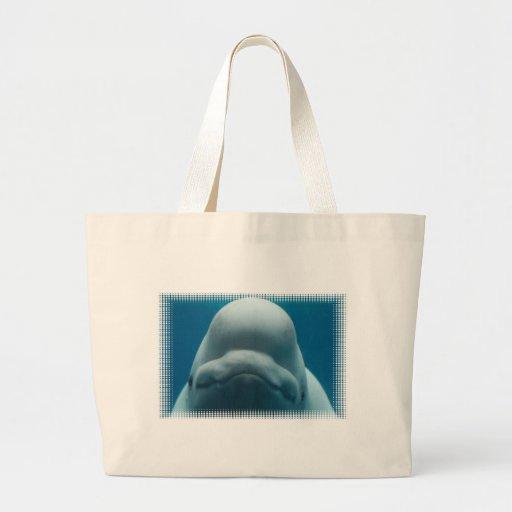Bolso dulce de la lona de la ballena de la beluga bolsas de mano