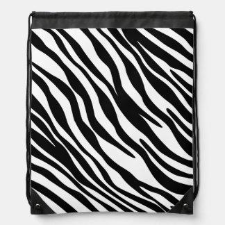 Bolso elegante de la cincha del lazo del estampado mochila