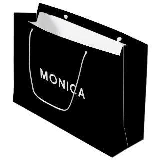 Bolso elegante del regalo de Mónica en blanco y Bolsa De Regalo Grande