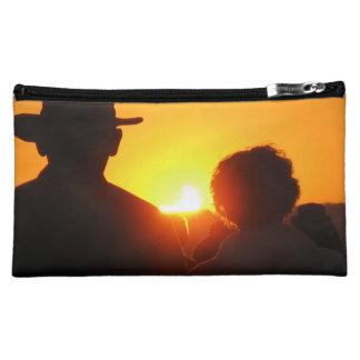 Bolso/embrague del eclipse de la puesta del sol