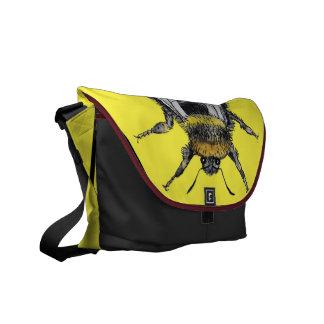 Bolso enrrollado del Watercolour del abejorro Bolsas De Mensajeria
