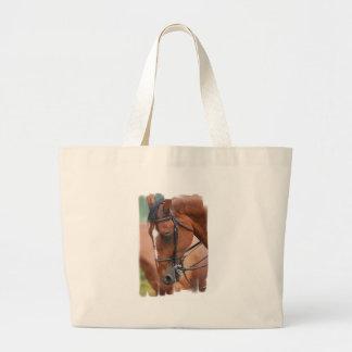 Bolso equino de la lona de la castaña bolsas lienzo