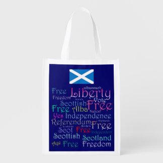Bolso escocés de la libertad de la independencia bolsas para la compra