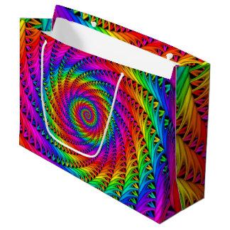 Bolso espiral del regalo del arco iris bolsa de regalo grande