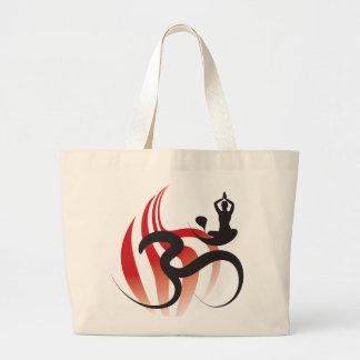 Bolso espiritual del zen de la caligrafía del bolsa tela grande