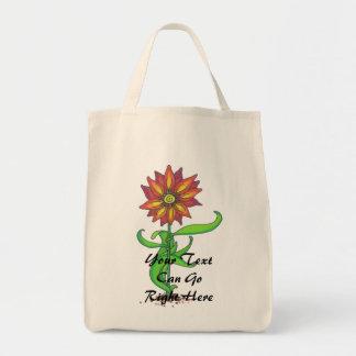 Bolso estilizado salvaje de la flor bolsa tela para la compra