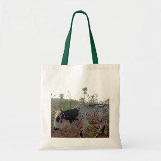 Bolso etíope de la vaca del Brahman Bolsa Tela Barata