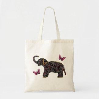 Bolso exótico de la lona del elefante de la joya bolsa tela barata