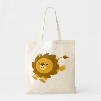Bolso extático lindo del león del dibujo animado bolsa tela barata