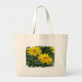 Bolso falso amarillo de la lona de los girasoles bolsa