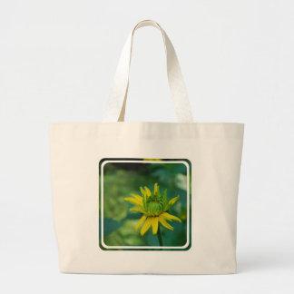 Bolso falso de florecimiento de la lona del giraso bolsas lienzo