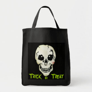 Bolso fantasmagórico de Halloween del truco o de Bolsa Tela Para La Compra