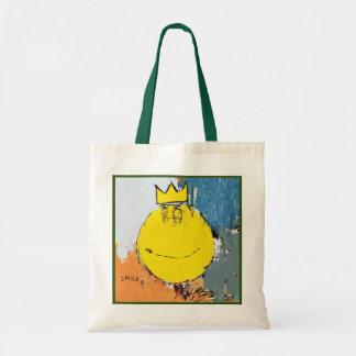 bolso feliz de la cara del neo-expresionista bolsa tela barata