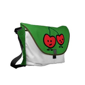 bolso feliz de las cerezas bolsas de mensajeria