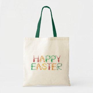 Bolso feliz de Pascua Bolsas Lienzo